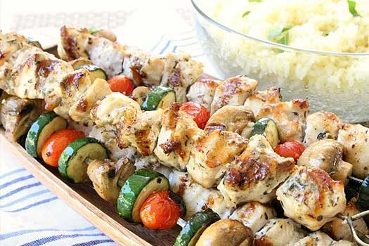 Chicken souvlaki , Quality  Greek Traditional Food by Sirtaki