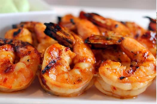 Grilled Shrimps, Quality  Greek Traditional Food by Sirtaki